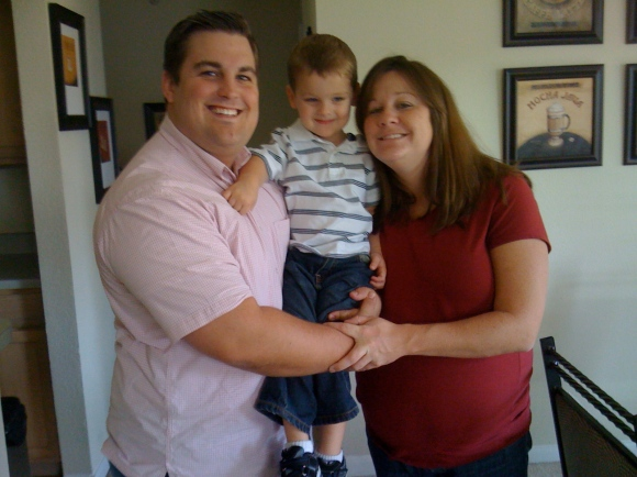Last picture as a family of three